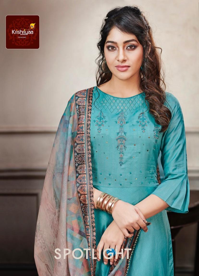 Krishriyaa Spotlight Designer Handwork Embroidered Silk Gowns Wholesale
