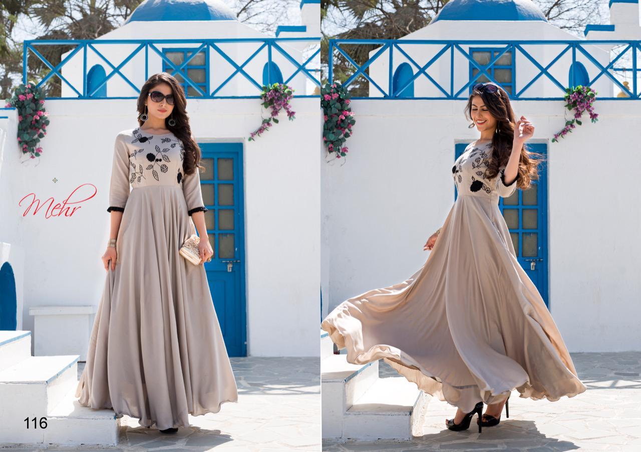 Mugdha Mehr Vol 4 Designer Partywaer Gowns In Wholesale Rate