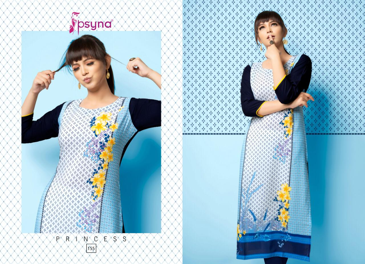 Psyna's Princess Vol 15 Designer Rayon Stylish Kurti Wholesale