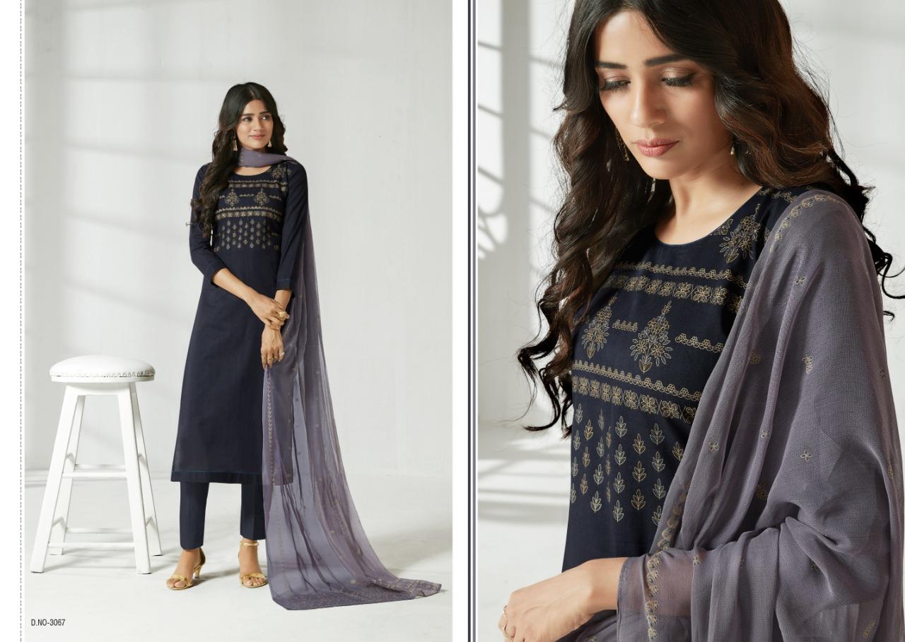 Sanna Sunkissed Designer Cotton Printed Suits Wholesale