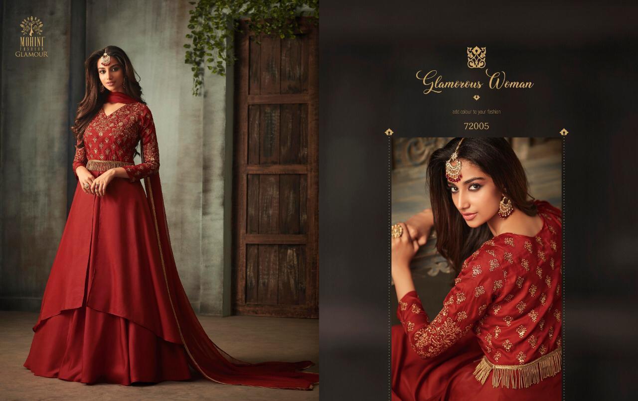 Mohini Glamour 72 Designer Silk Partywear Suits Wholesale