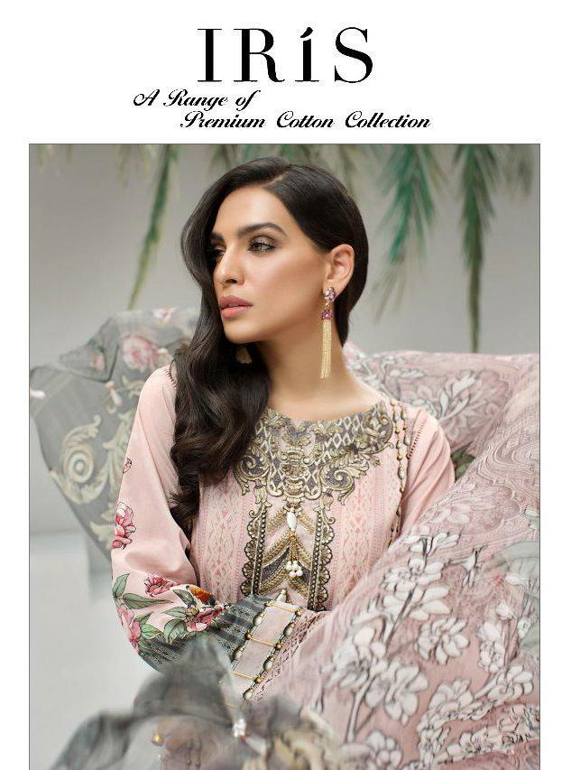 Shree Fab Iris Designer Premium Cotton Embroidered Collection Wholesale