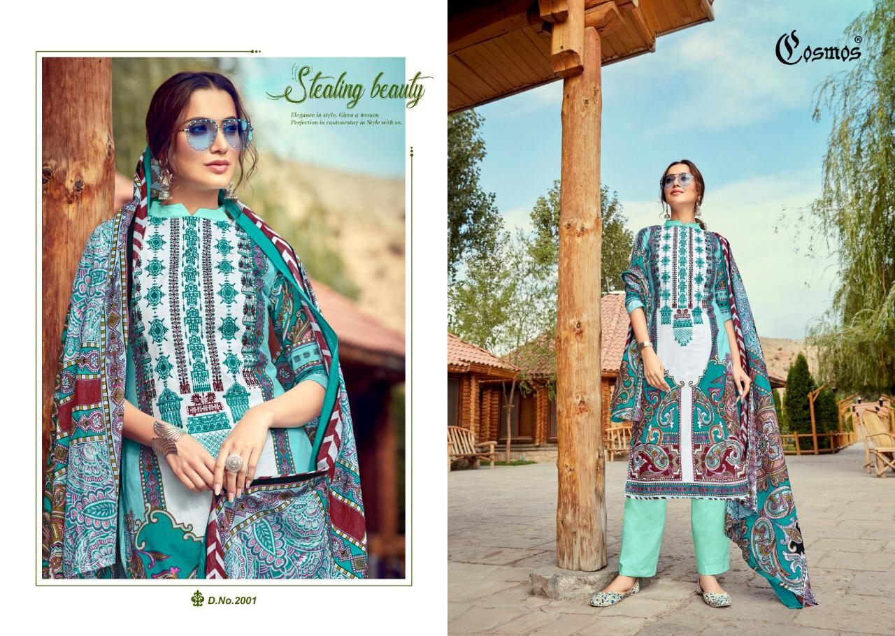 Cosmos Saadia Noor Lawn Collection Vol 2 Designer Embroidered Cotton Printed Suits Wholesale
