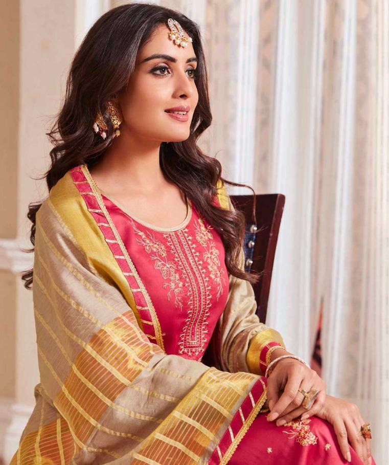 Kalarang Jasmine Vol 5 Designer Embroidered With Jam Silk Cotton Suits Wholesale