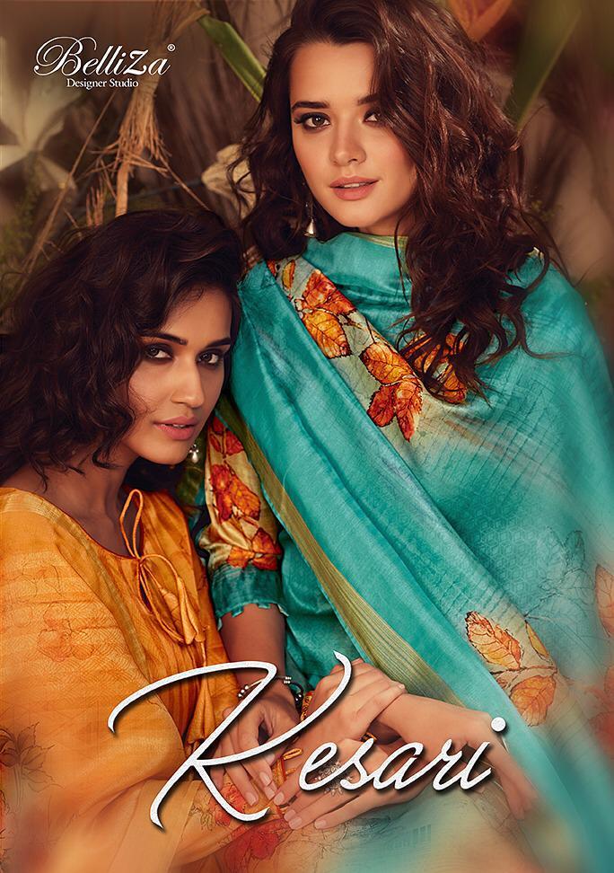 Belliza Kesari Designer Satin Printed Suits Wholesale