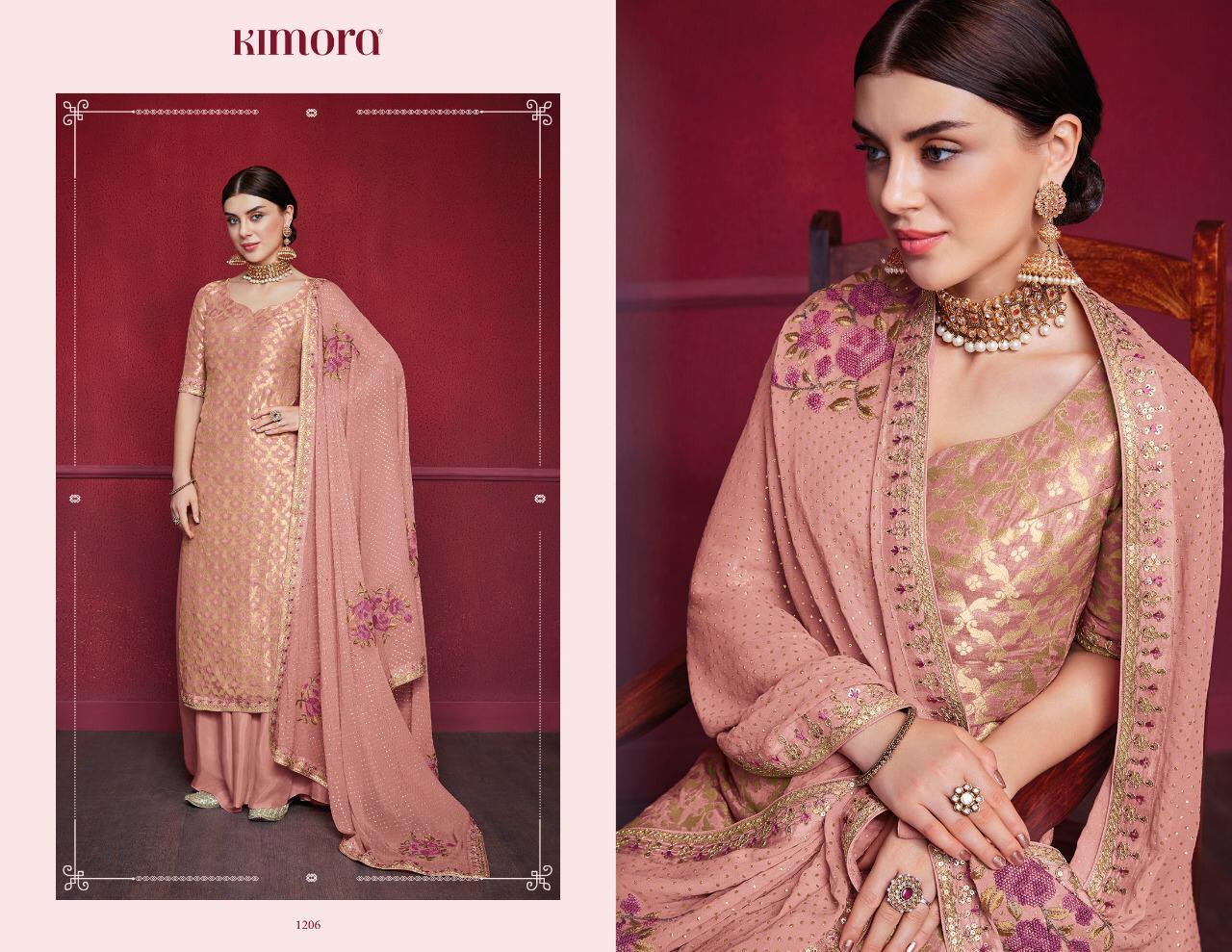 Kimora Vol 12 Designer Embroidered With Dola Silk Wedding Wear Suits Wholesale
