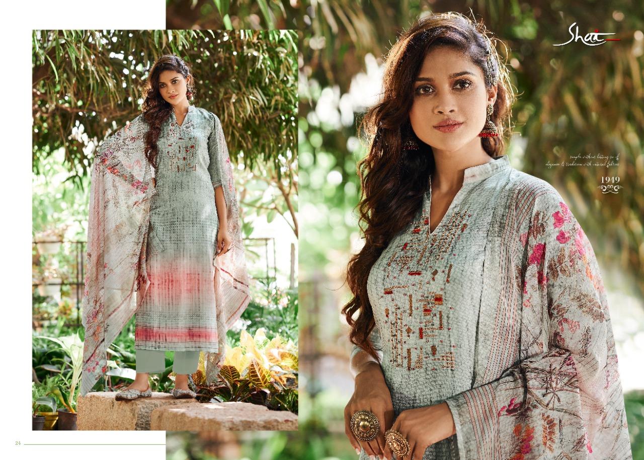 Shai Florin Designer Hand Work With Bemberg Silk Printed Suits Wholesale