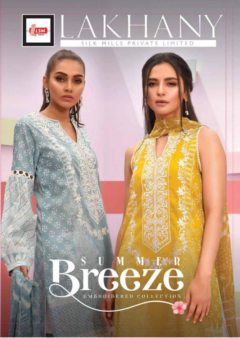 Lsm Summer Breeze Designer Original Pakistani Printed Embroidery Suits Best Wholesale Rate