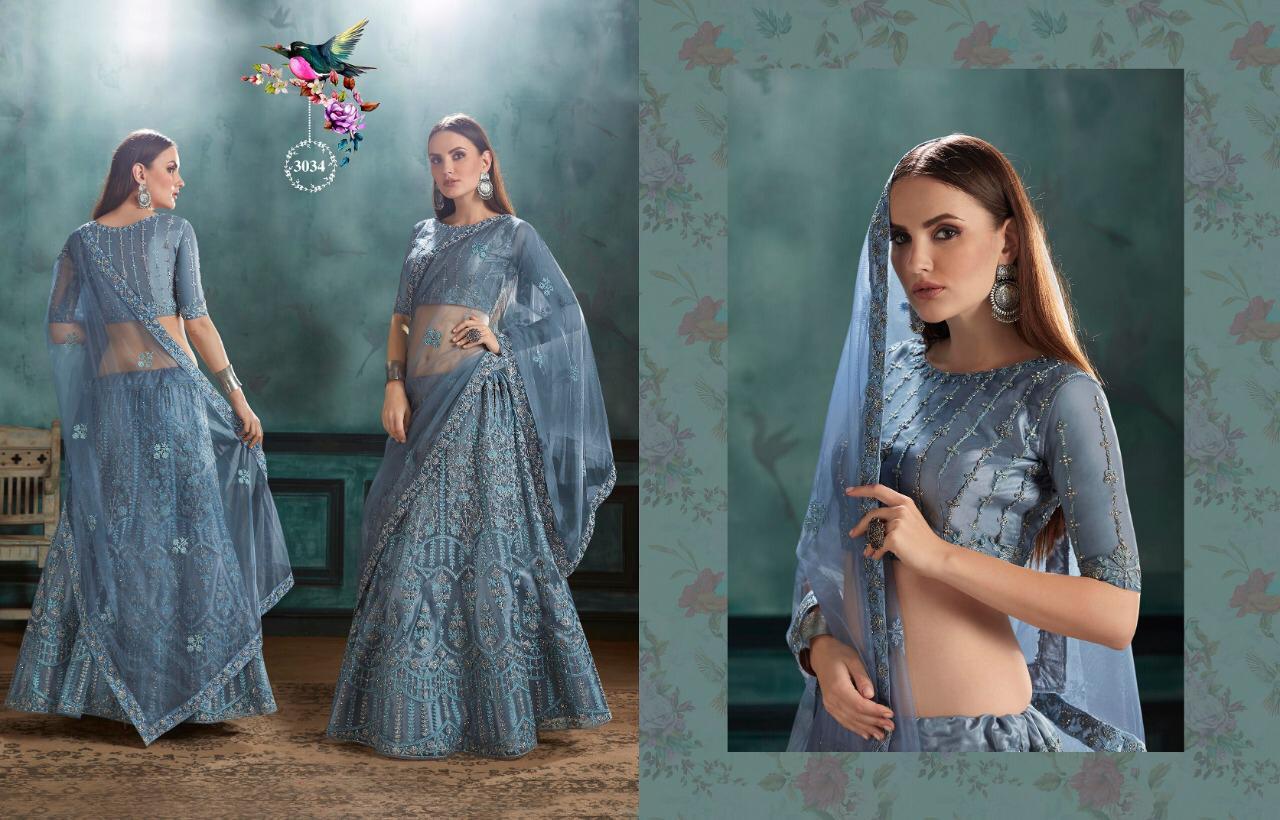 Kessi Zarkan Designer Gown Lehenga Pettern In Wholesale Rate