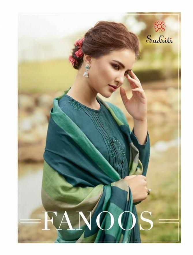 Sahiba Sudriti Fanoos Desiger Handwork With Pashmina Digital Printed Winter Wear Suits Wholesale
