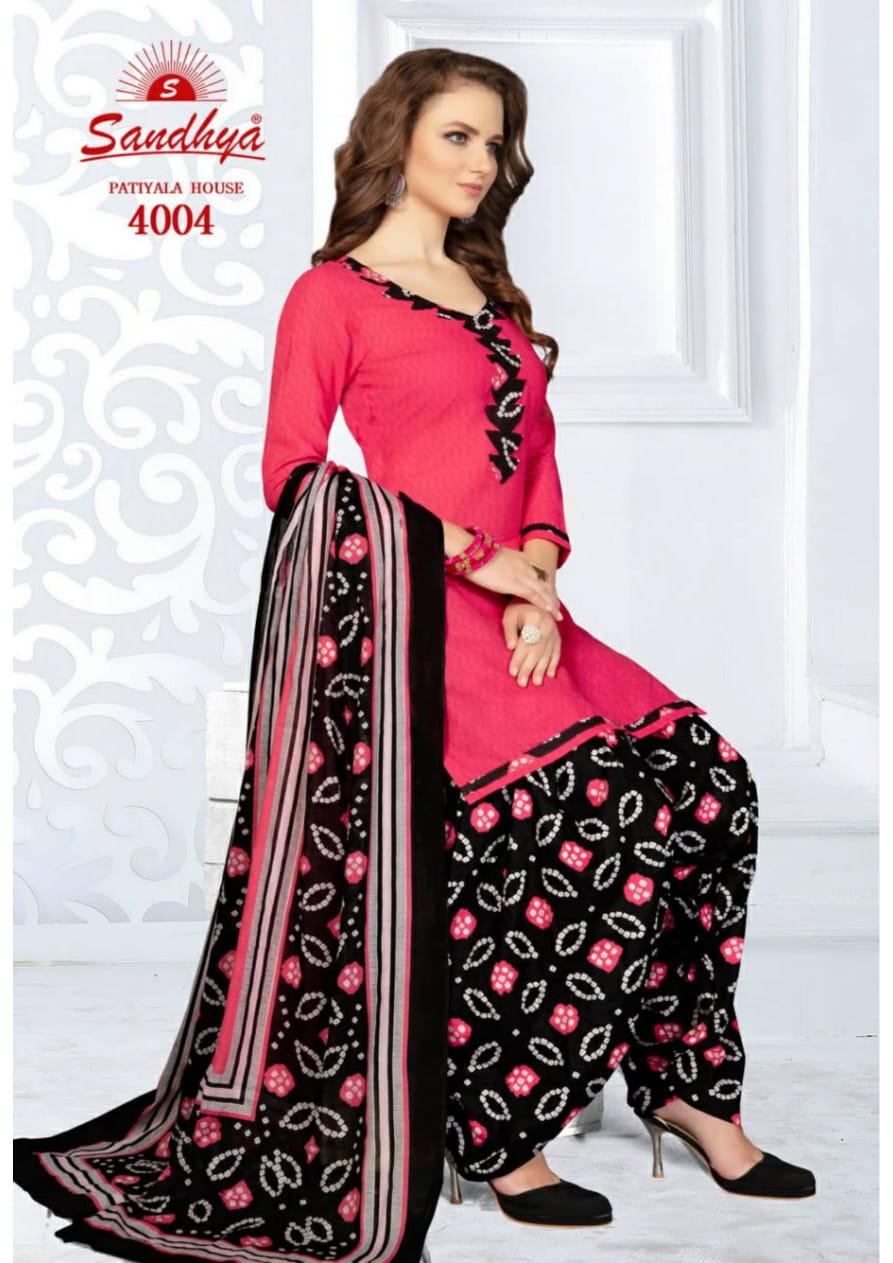 Sandhya Patiyala House Vol 4 Designer Cotton Daily Wear Patiyala Suits In Wholesale Rate
