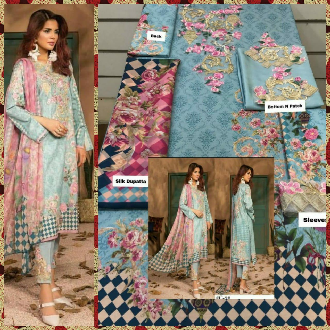 Designer Pakistani Replica/ Pakistani Pattern Suits In Best Wholesale Rate Singles Available