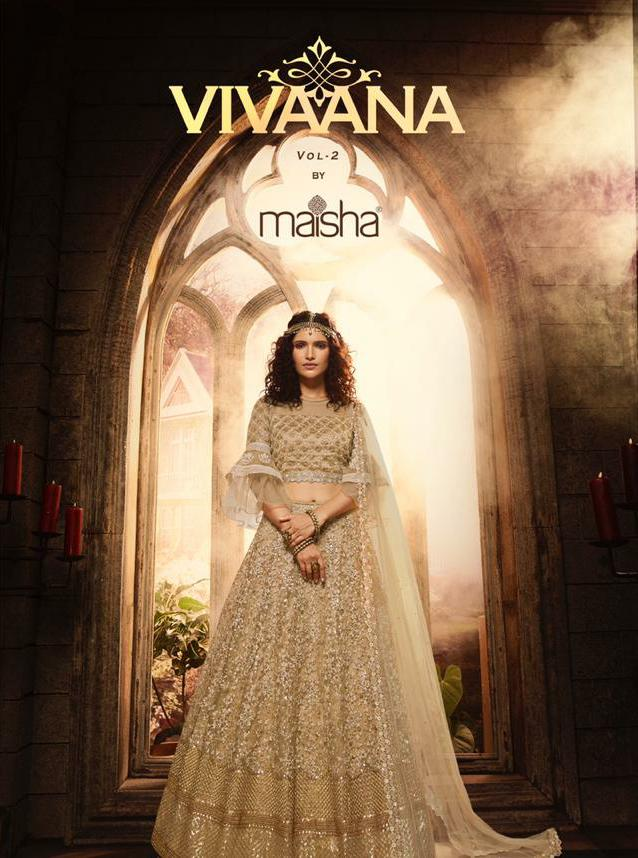 Maisha Vivaana Vol 2 Designer Wedding Wear & Partywear Lehnga In Wholesale Rate