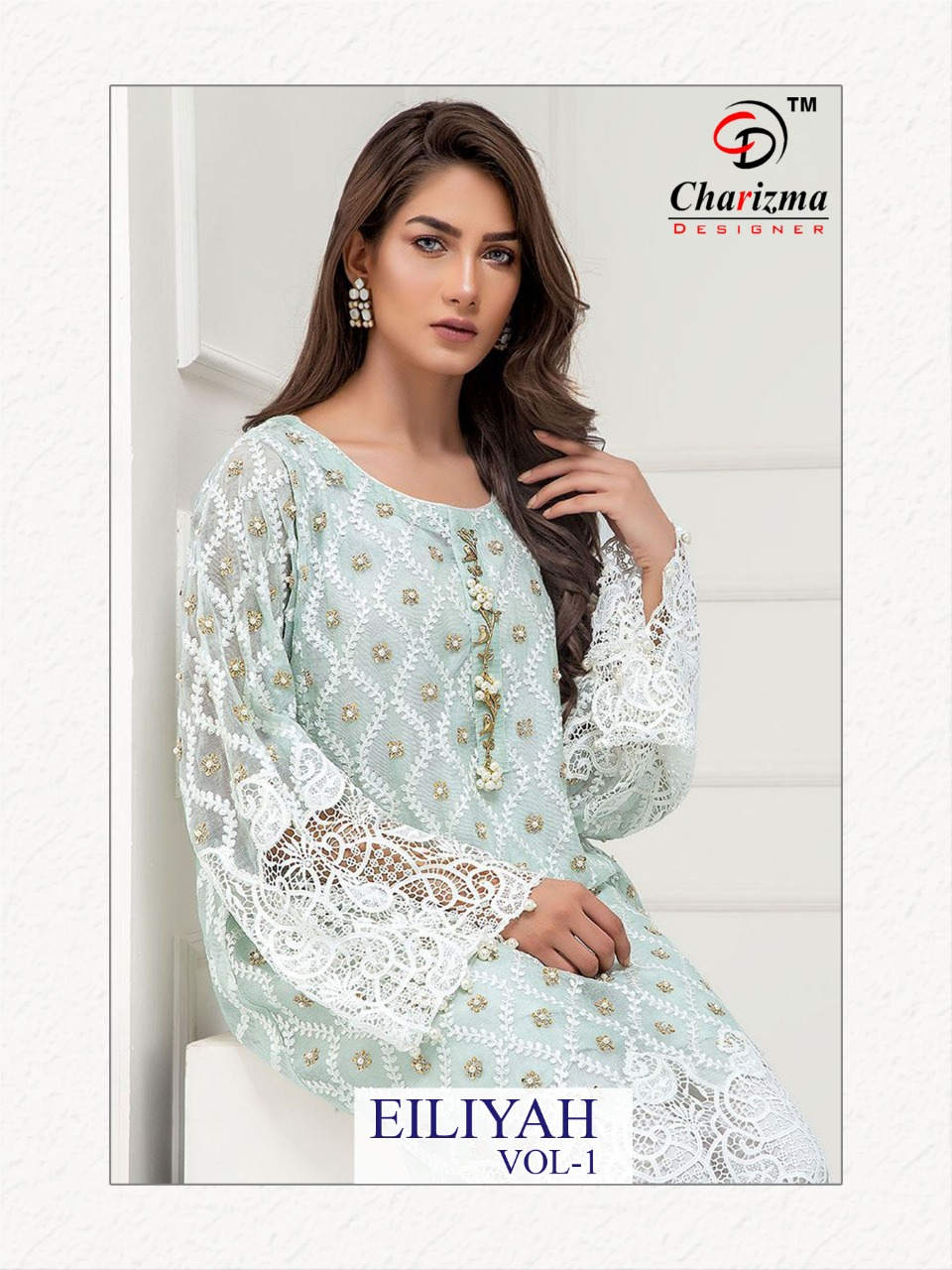 Charizma Eiliyah Vol 1 Designer Heavy Net Georgette With Fancy Embroidery Work Partywear Suits Wholesale