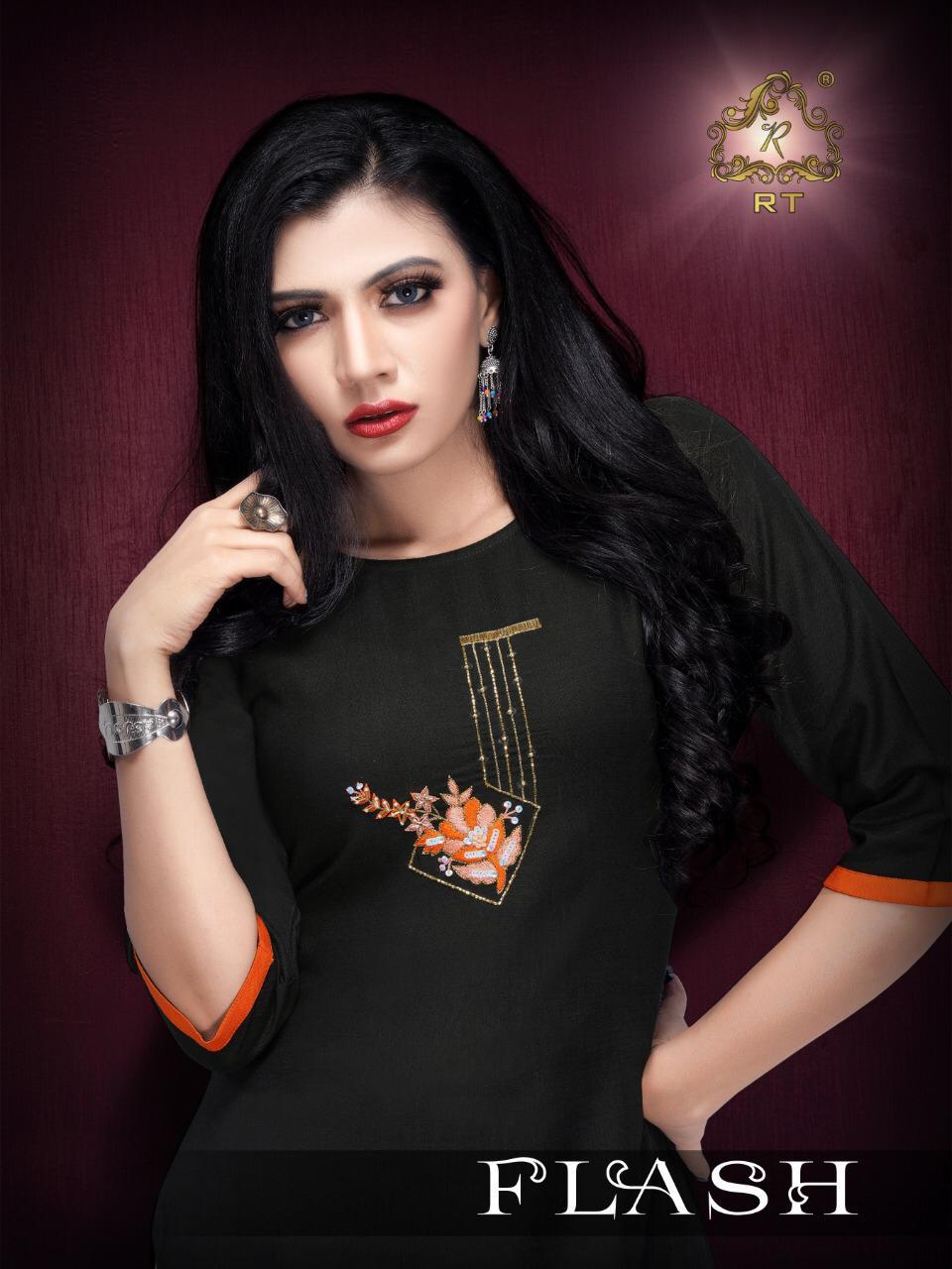 Rijiya Trends Flash Designer Premium Quality Rayon Stitch Daily Wear Kurtis Wholesale
