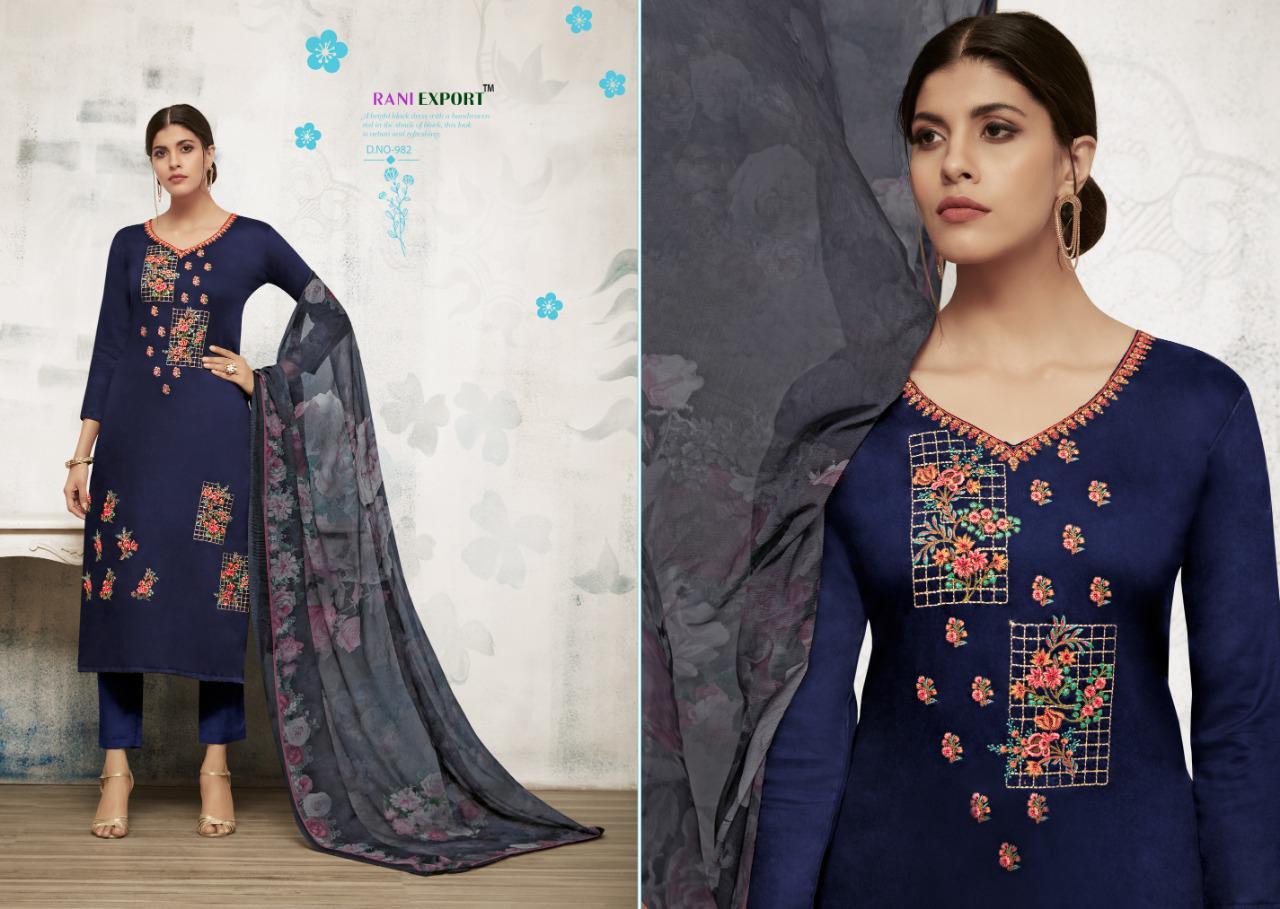 Rani Export Peonia Designer Jam Silk Digital Printed Suits Fancy Collection Wholesale