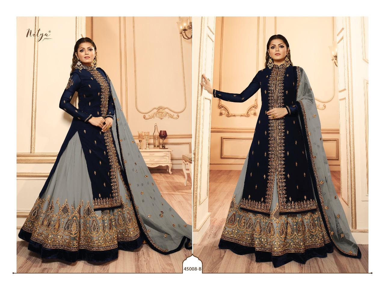 Lt Nitya 45008 Colours Designer Georgette Partywear & Wedding Wear  Lehenga In Best Wholesale Rate
