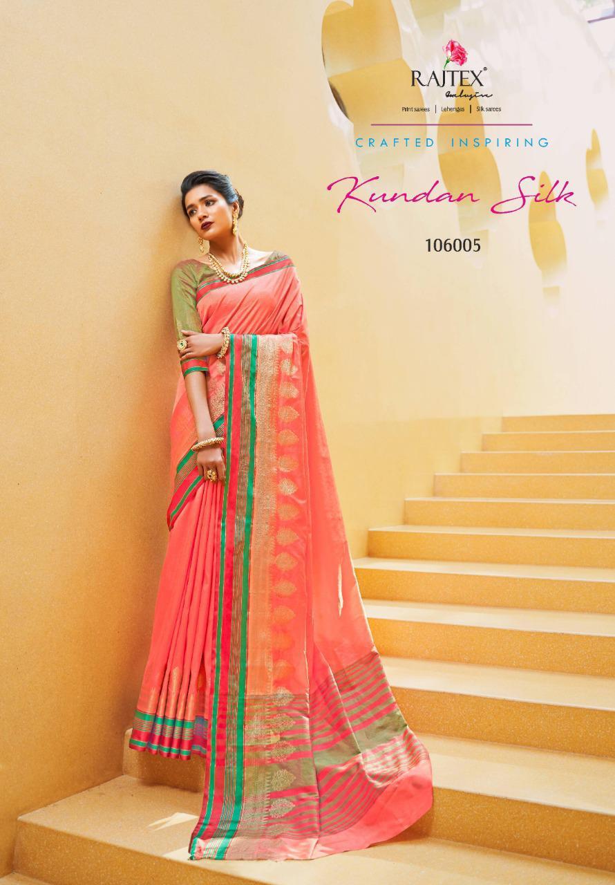Raj Tex Kundan Silk Vol 2 Designer Silk Partywear Sarees In Best Wholesale Rate