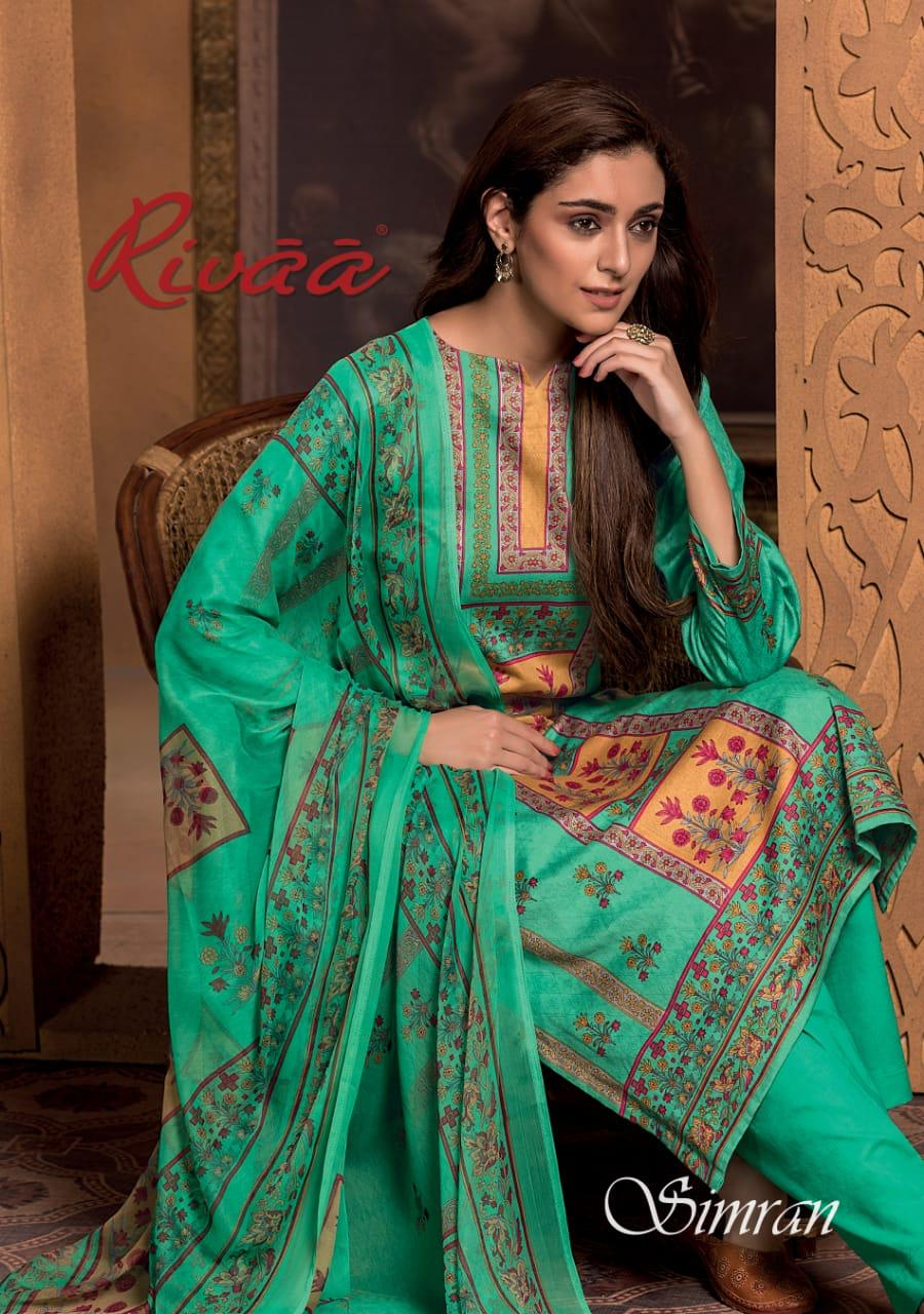 Rivaa Simran Designer Glaze Cotton Printed Suits In Wholesale Rate