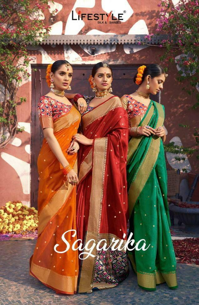 Lifestyle Sagarika Designer Patola Pallu Premium Quality Festival Wear Sarees Wholesale