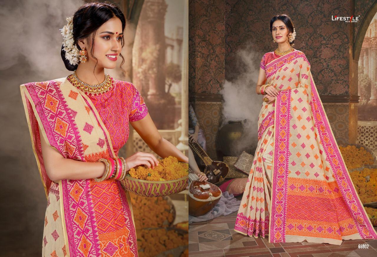 Lifestyle Mishka Designer Outdoor Wear Sarees In Best Wholesale Rate
