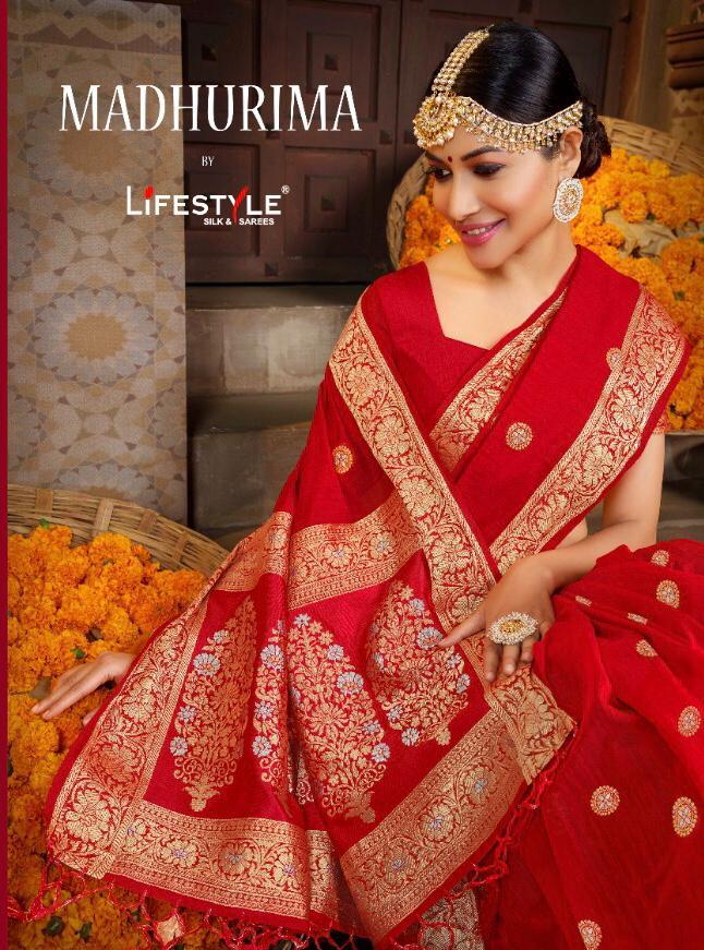 Lifestyle Madhurima Designer Linen Rich Pallu Best Quality Wedding Wear Sarees Wholesale