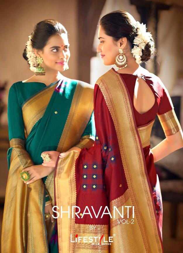 Lifestyle Shravanti Vol 2 Designer Exclusive Premium Quality Festival Wear Sarees Wholesale