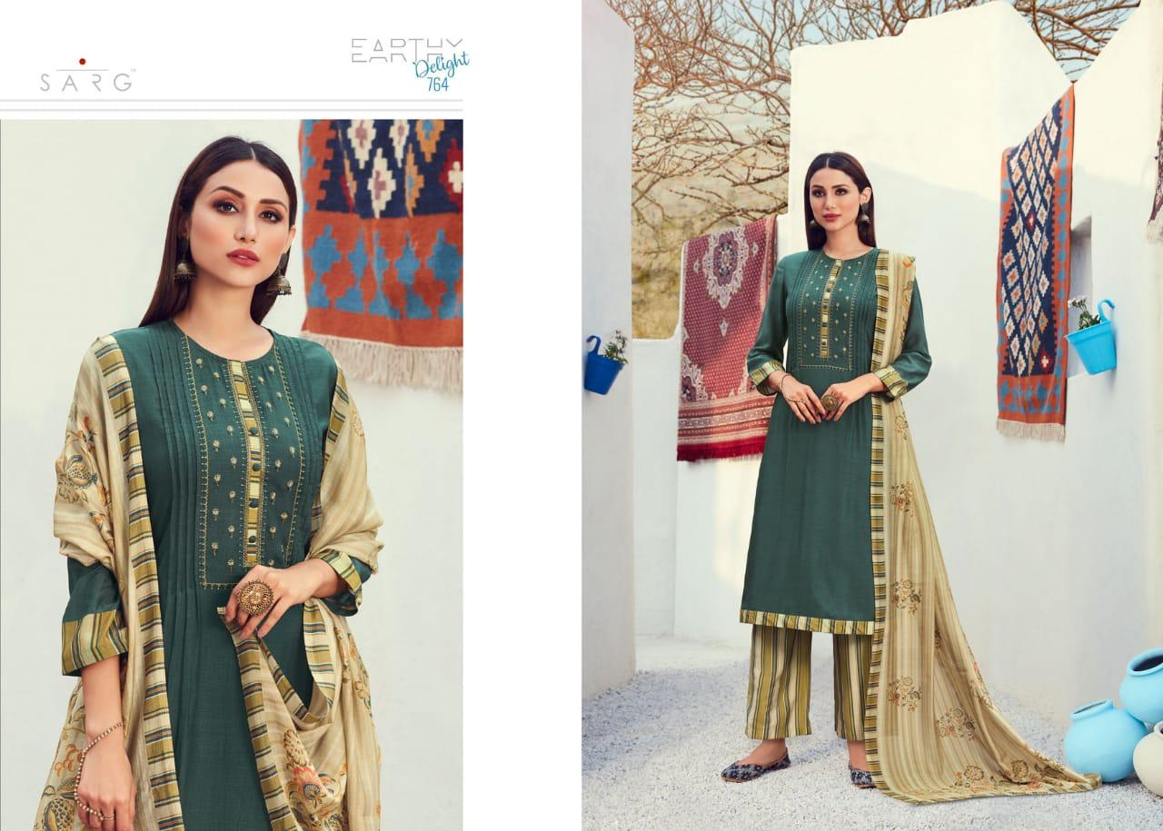 Sarg Earthy Delight Designer Cotton Viscose Digital Print With Work Festival And Daily Wear Suits In Best Wholesale Rate