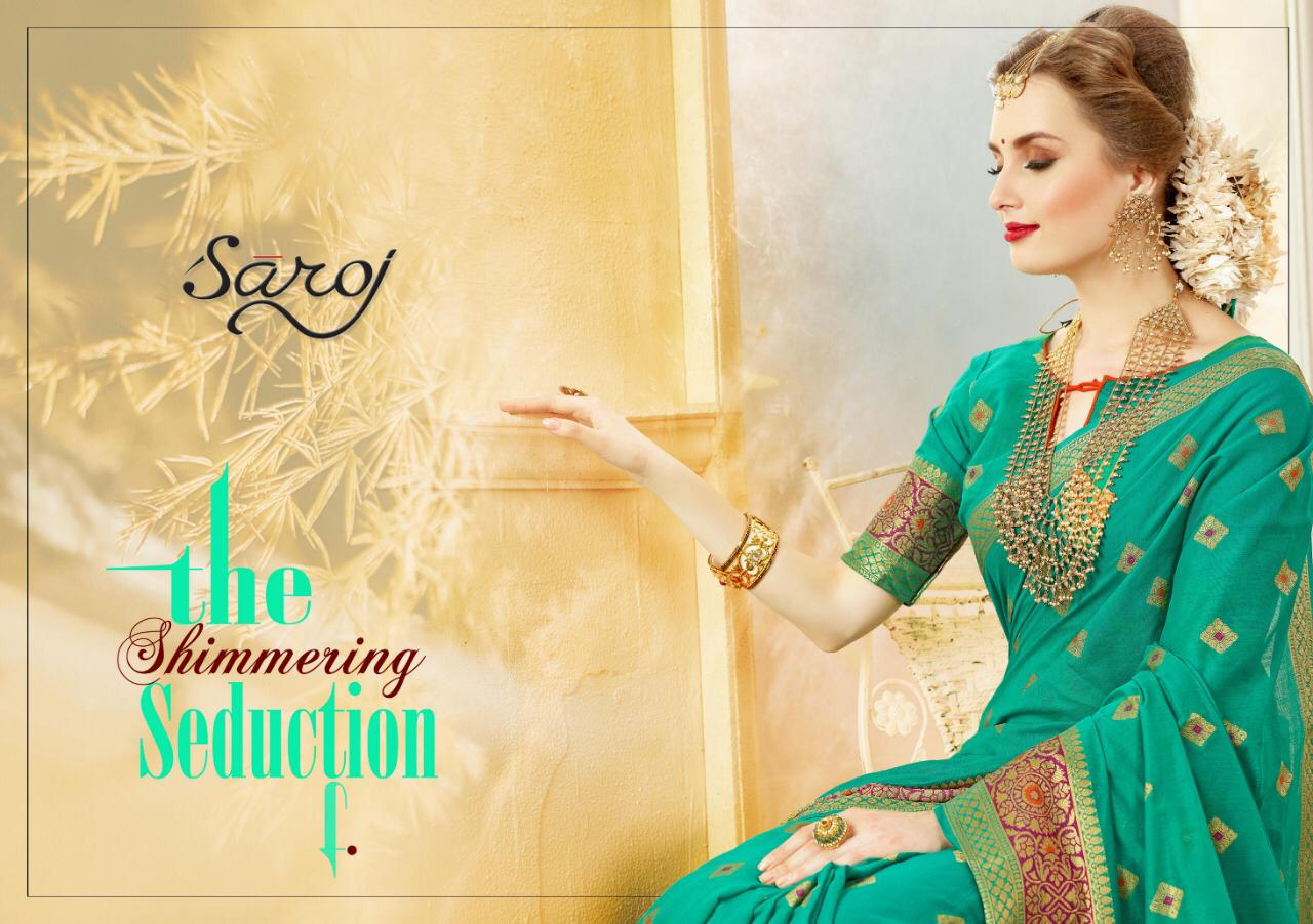 Saroj Saree Utsav Designer Silk Viscoss Border Festival Wear Sarees In Best Wholesale Rate
