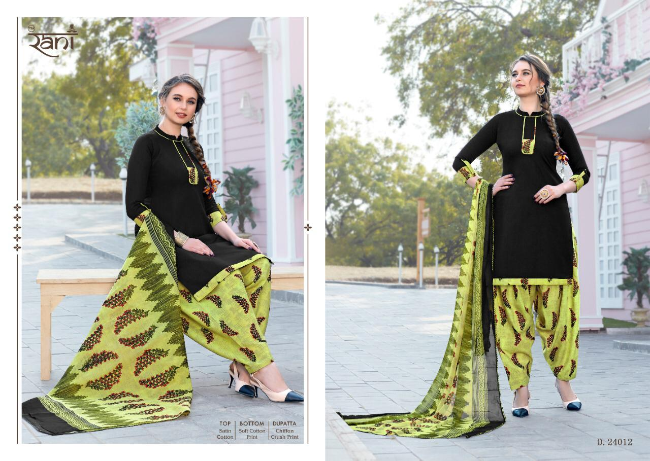 Rani Sunday Patiyala Vol 24 Designer Heavy Glace Cotton Daily Wear Suits In Best Wholesale Rate