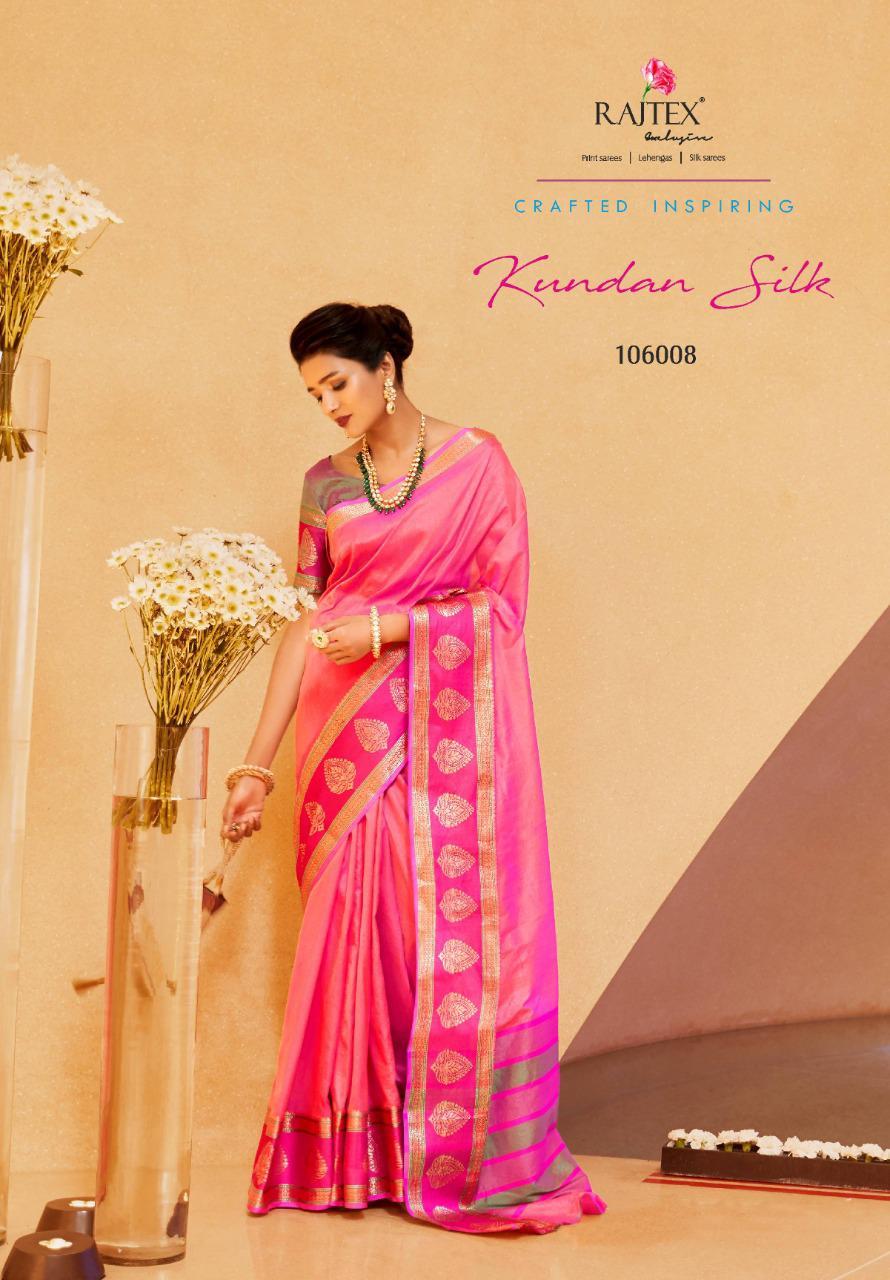 Rajtex Kundan Silk Designer Soft Krystal Silk Festival Wear Sarees In Best Wholesale Rate