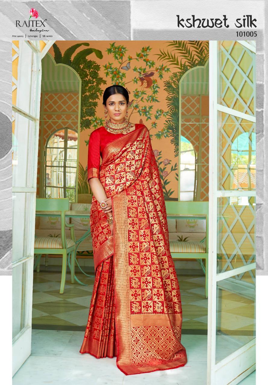 Rajtex Kshwet Silk Designer Soft Silk Wedding Wear Sarees In Best Wholesale Rate