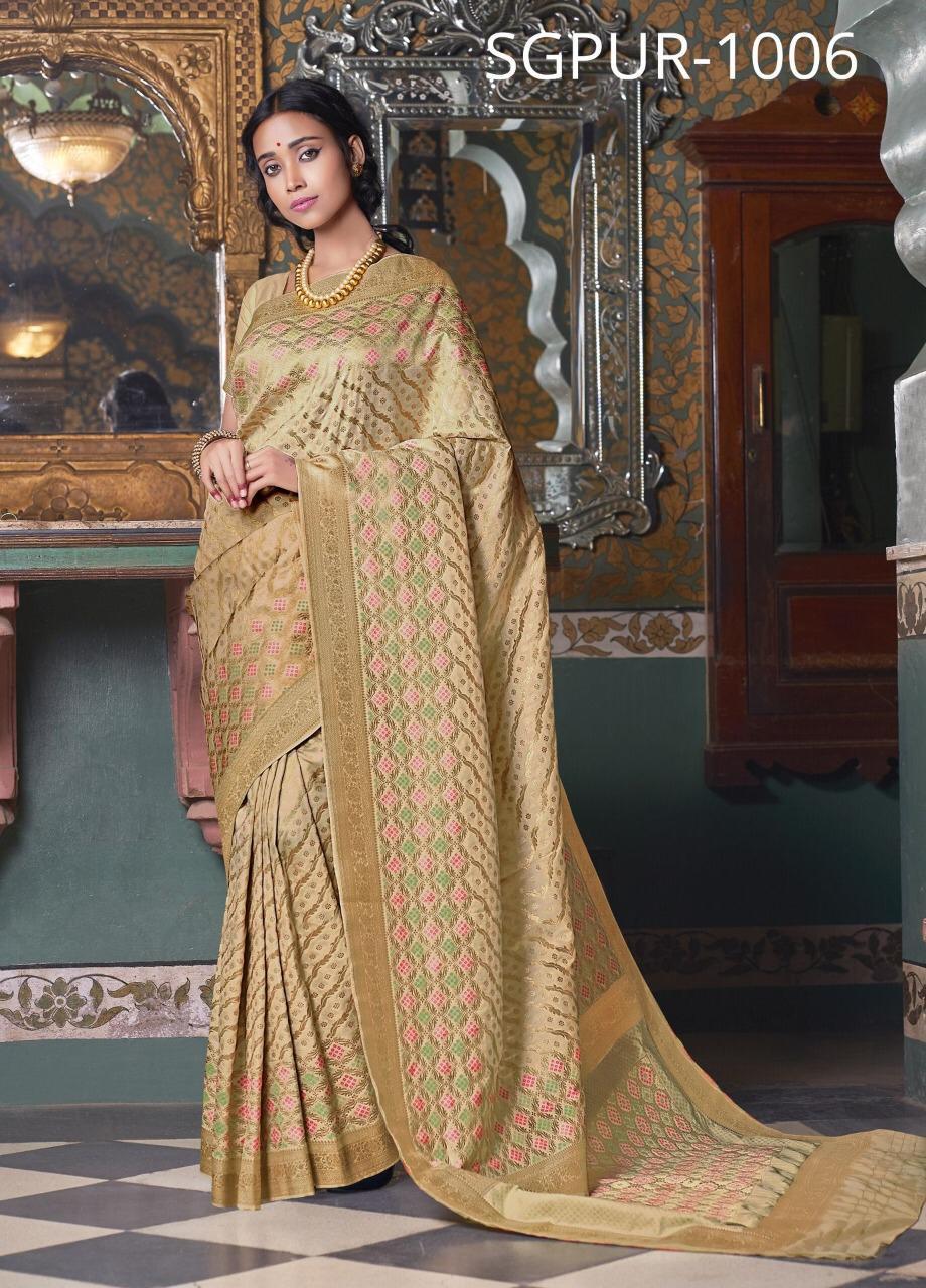 Sangam Sarees Purnima Silk Festival Wear Sarees In Best Wholesale Rate