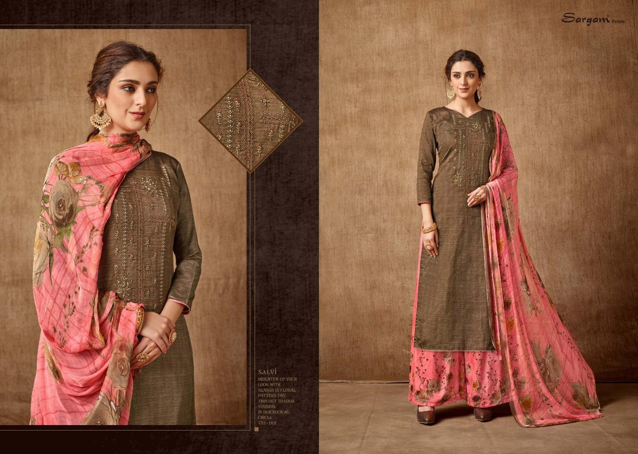 Sargam Prints Salvi Designer Printed With Embroidery Work Festival And Daily Wear Suits In Best Wholesale Rate