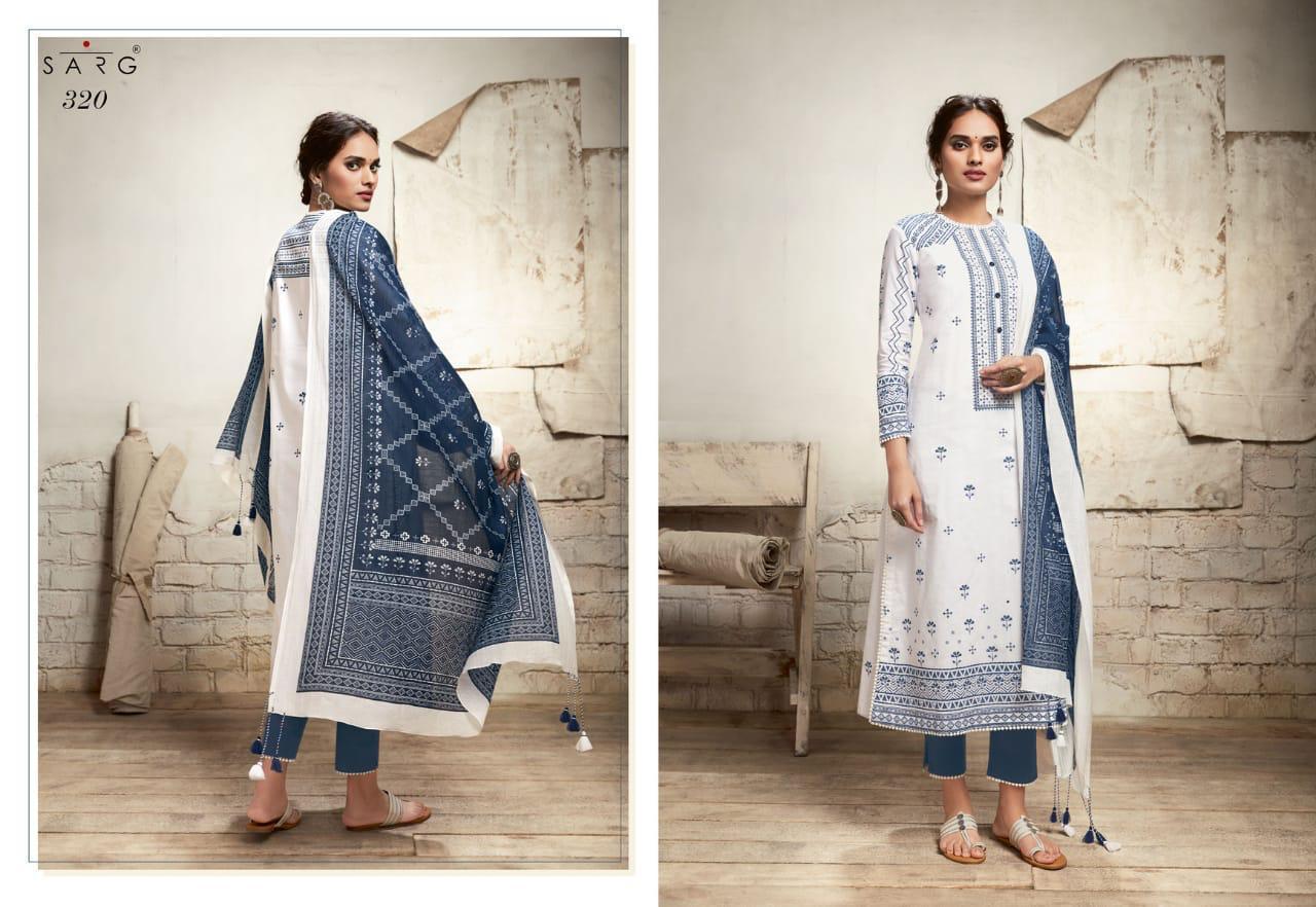 Sarg Nayyirah Designer Cotton Lawn Digital Printed Handwork  Festival Wear Suits In Best Wholesale Rate