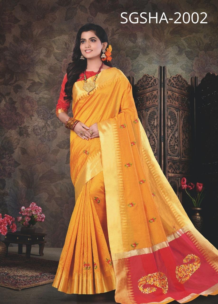 Sangam Saree Shantipuri Handloom Designer Crystal Silk Festival Wear  Saree In Best Wholesale Rate