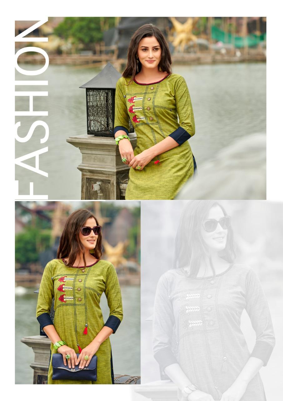 Sawan Creation Dani Vol 7 Designer Reyon Embroidery Work Kurtis With Plazzo In Best Wholesale Rate