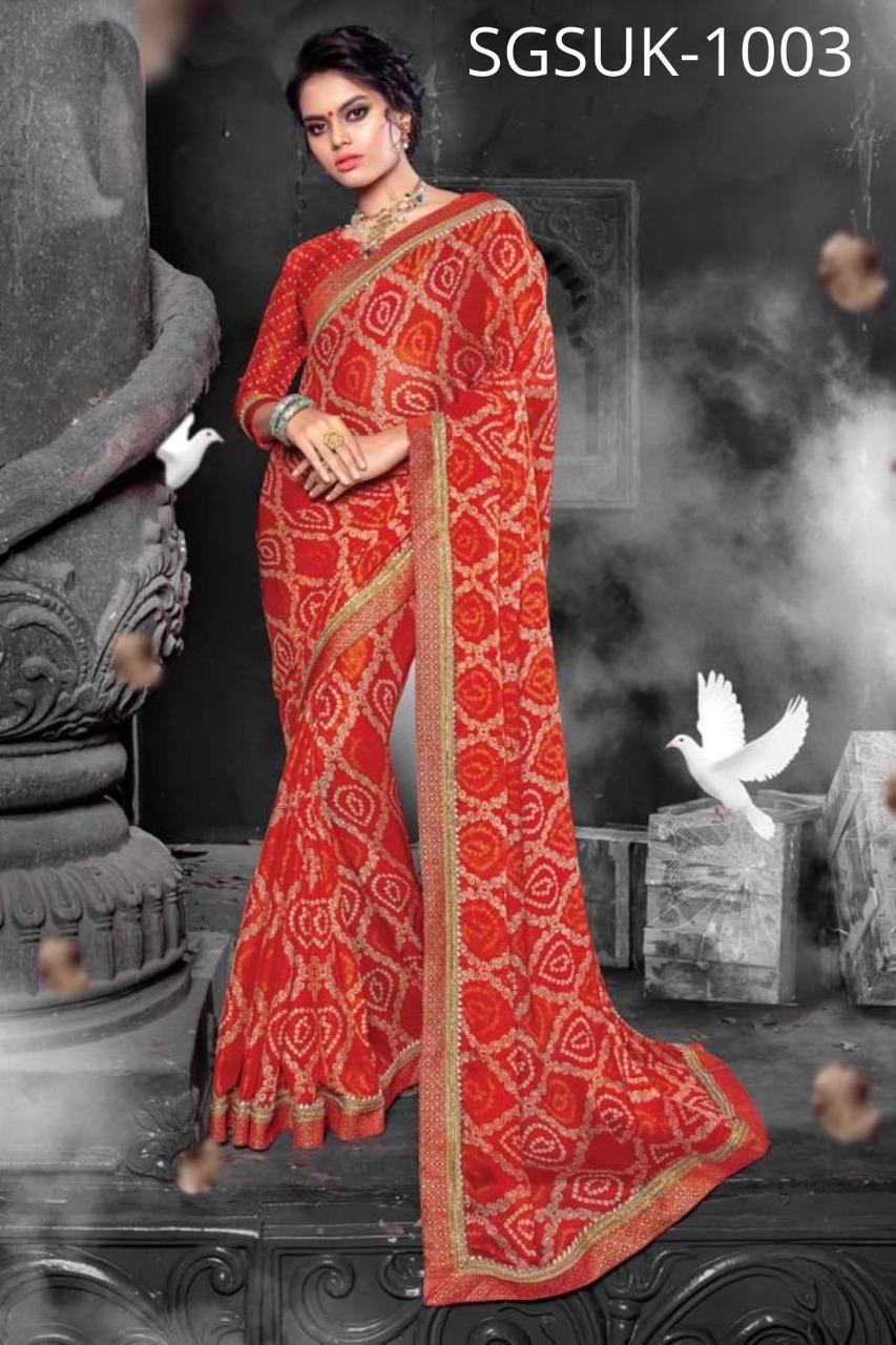 Sangam Saree Sukanya Designer Chiffon Festival Wear Sarees In Best Wholesale Rate