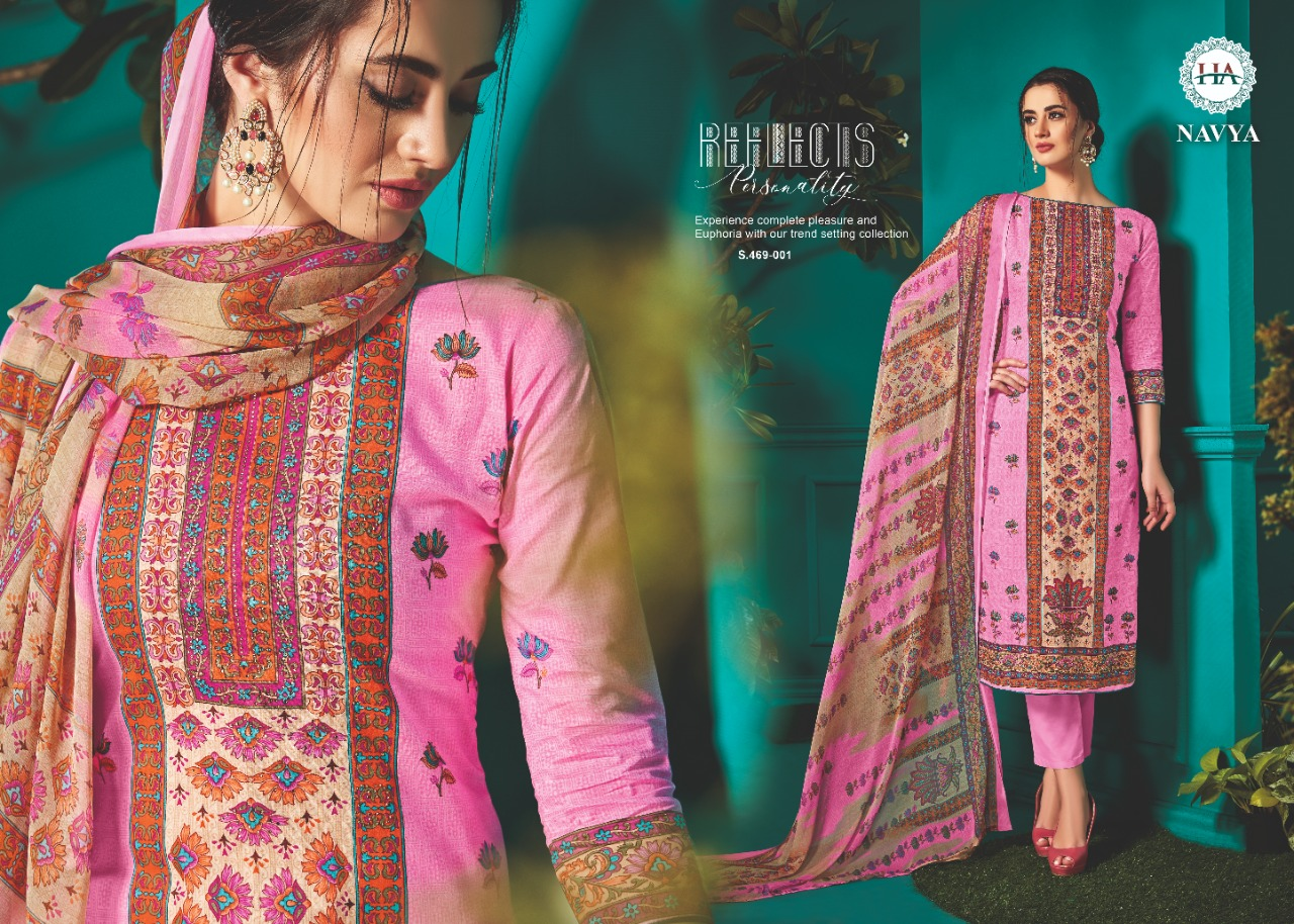 Harshit Fashion Hub  Navya Designer Cotton Loan Digital Styles Printed Daily Wear Suits In Best Wholesale Rate