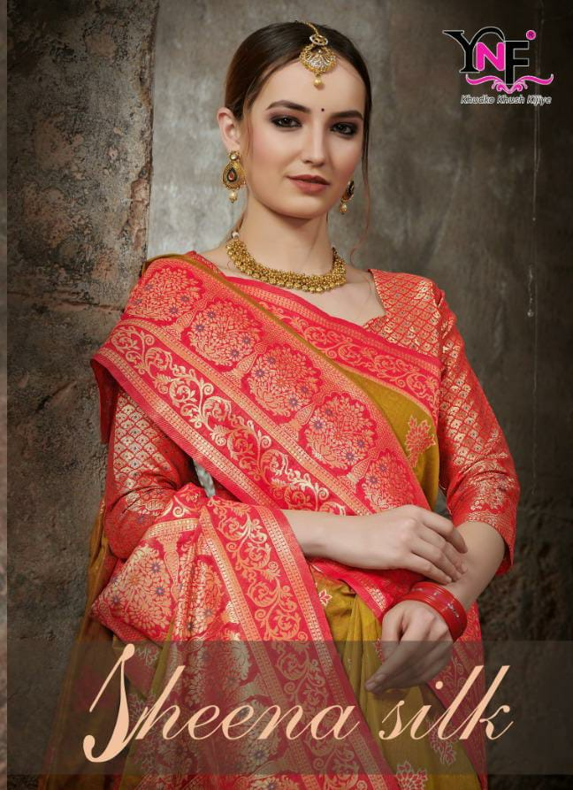 Ynf Presents Designer Party Wear Sheena Silk  Sarees In Wholesale Rate
