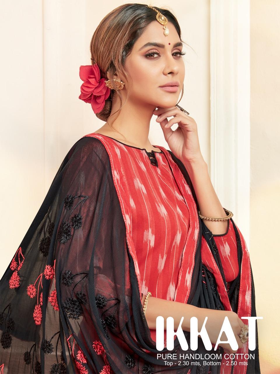 Raghav Creation Ikkat Designer Wear Heavy Work Party Wear Suits Wholesale Rate