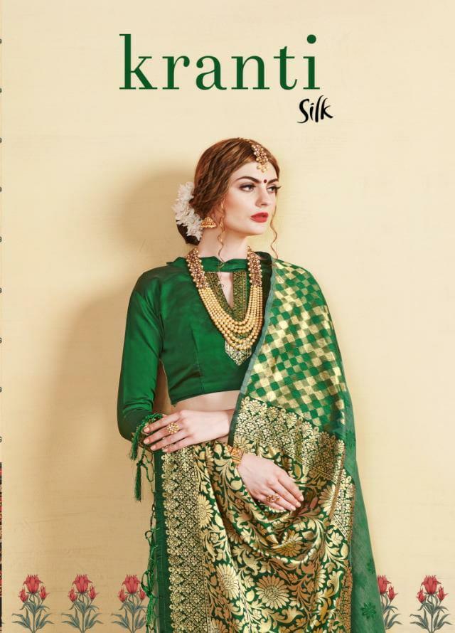 Ynf Kranti Silk Designer Party Wear Fancy Saree Wholesale