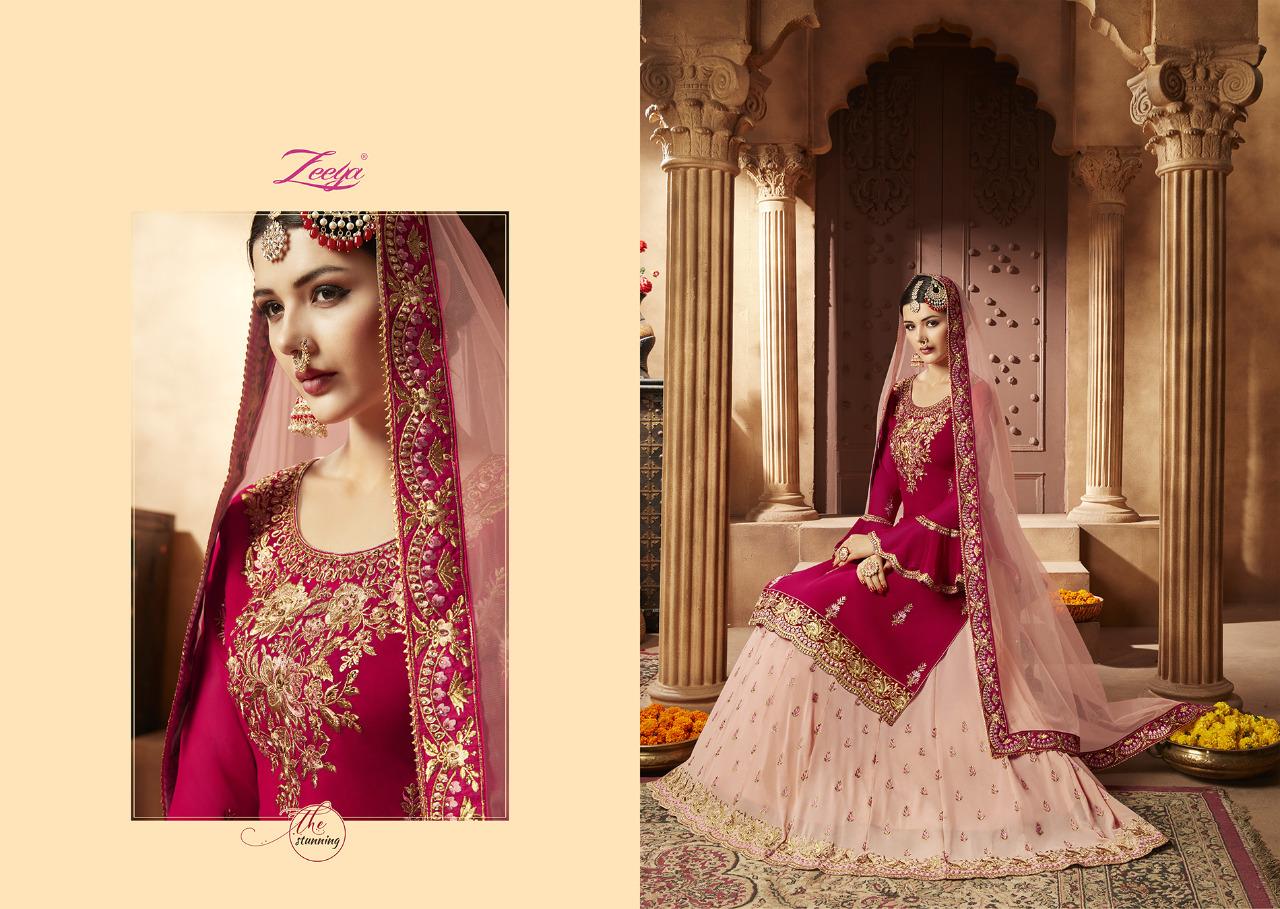 Zeeya Aaliya Lehenga Vol-1 Designer Heavy Gorgette Silk Suit Wholesale