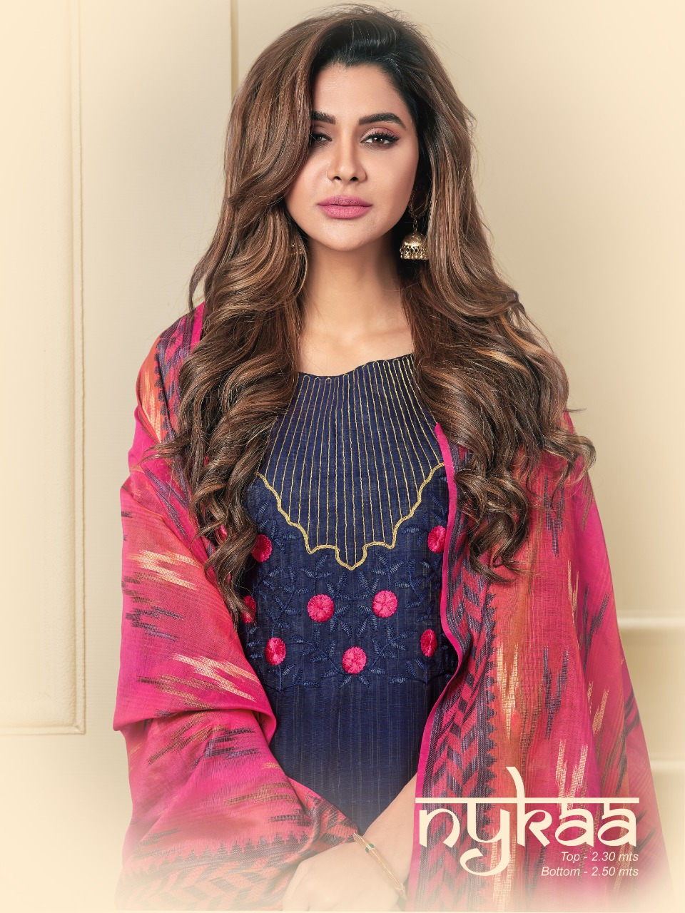 Raghav Royals Nykaa Designer Exclusive Fancy Embroidery & Handwork Cotton With Banarasi Dupatta Festival Wear Suits In Best Wholesale Rate