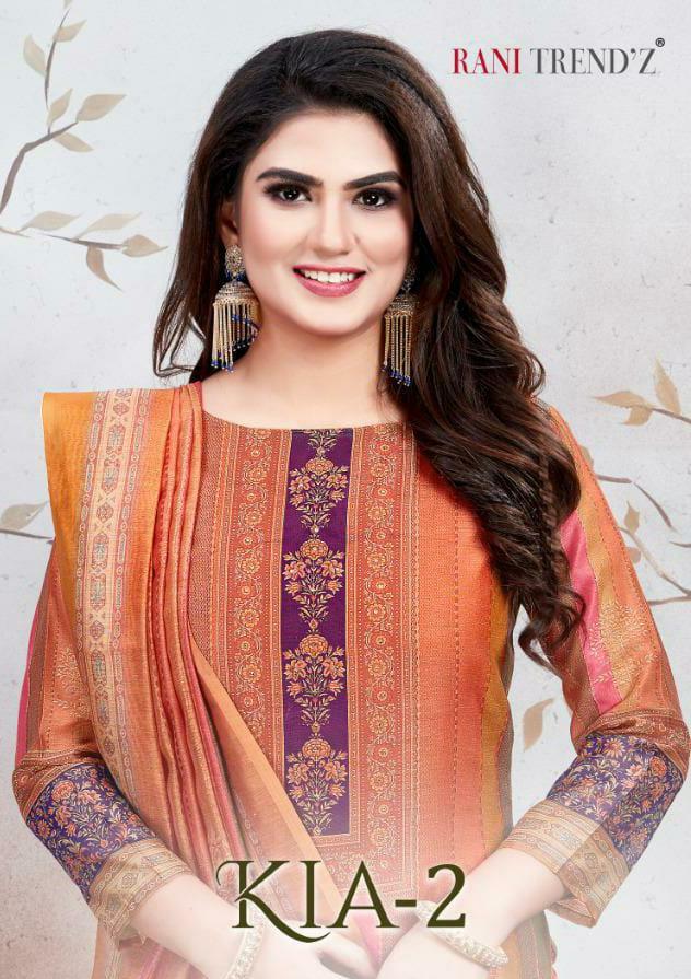 Rani Trendz Kia Vol 2 Designer Modal Chanderi Silk Suits In Best Wholesale Rate