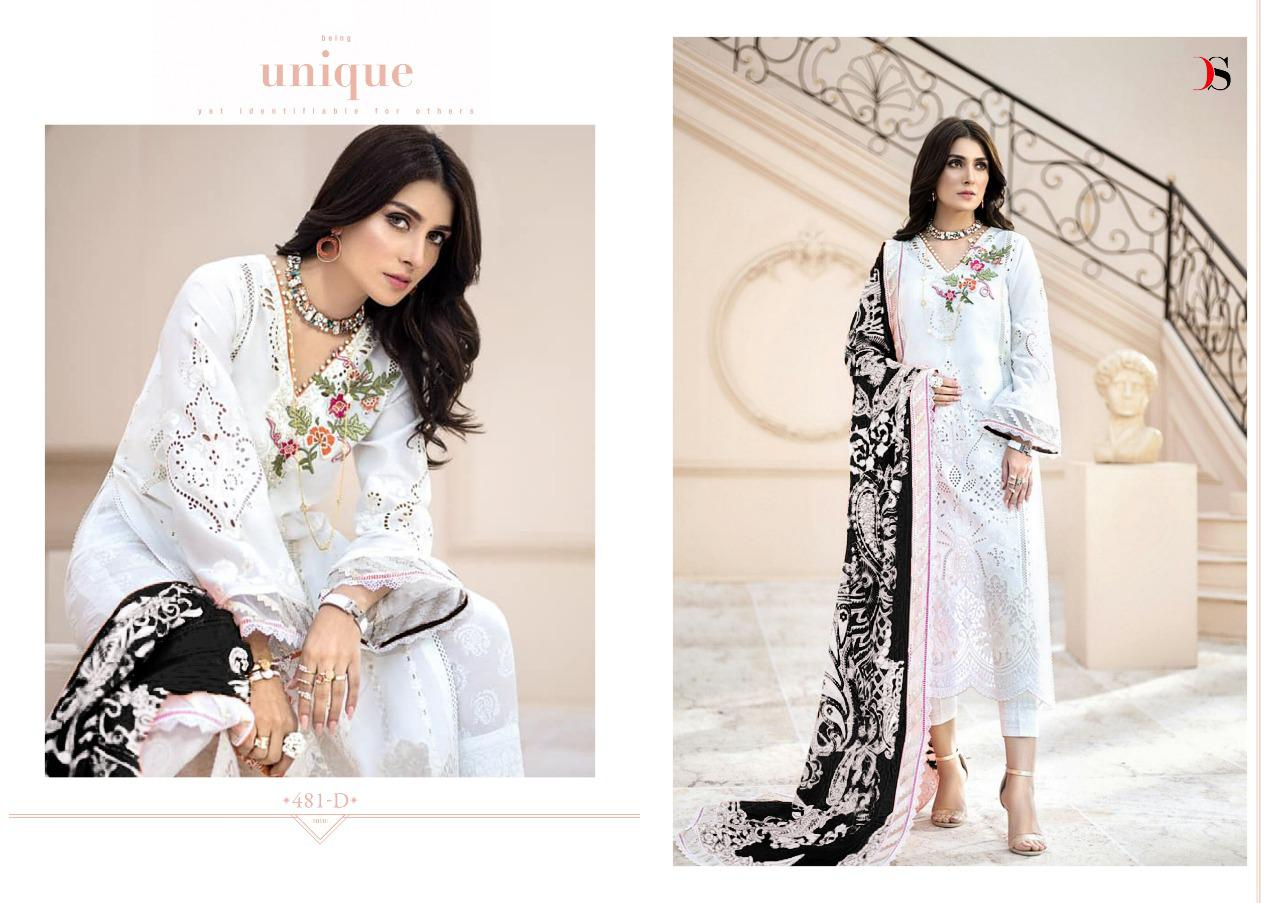 Deepsy Maria B Gold Designer Embroidery Patch Work Suits In Best Wholesale Rate