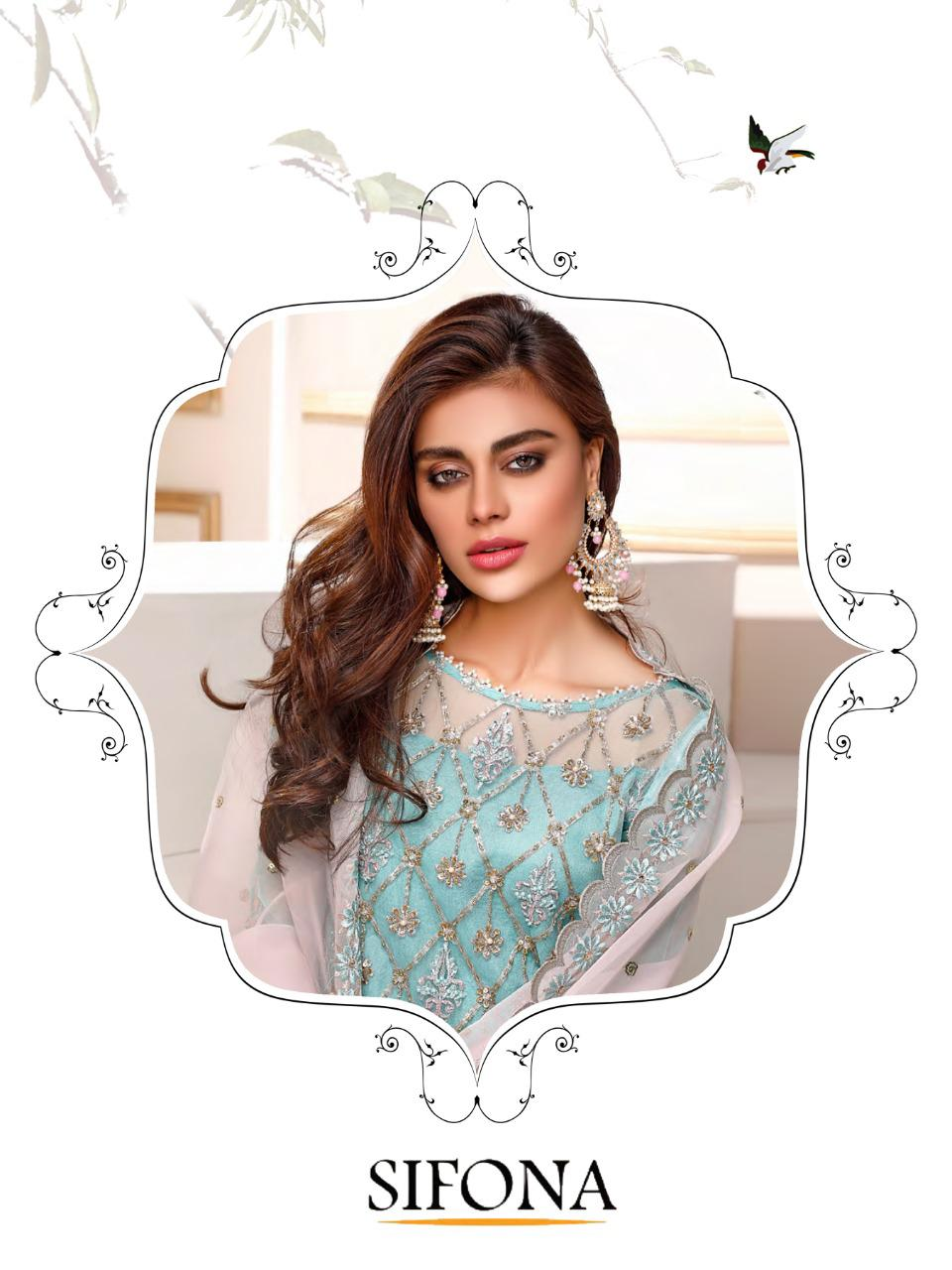 Saniya Trendz Sifona Designer Heavy Embroidery & Handwork With Faux Georgette Party Wear Suits In Best Wholesale Rate