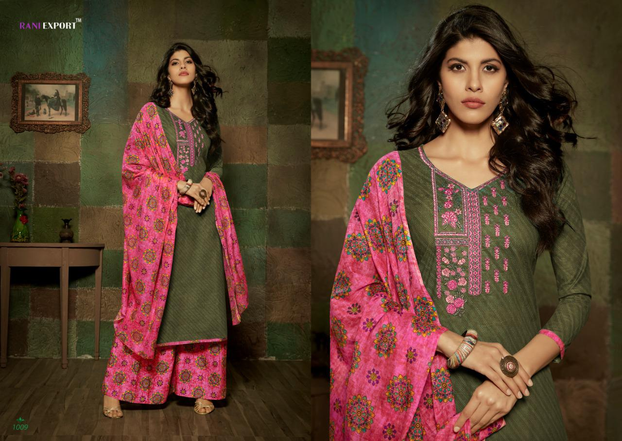 Rani Export Kashida Kari Designer Self Embroidery With Cambric Cotton Printed Suits In Best Wholesale Rate