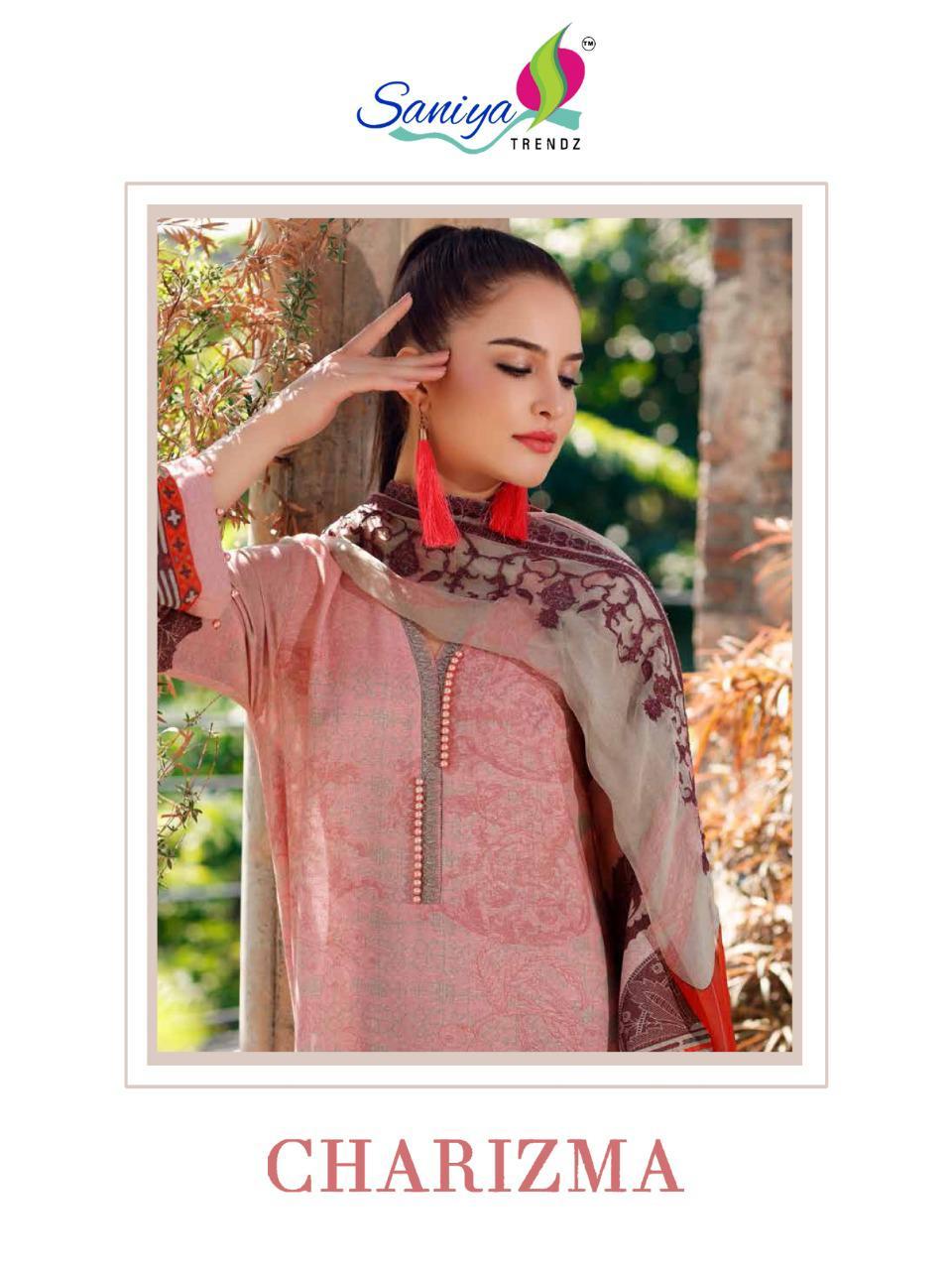 Saniya Trendz Charizma Vol 2 Designer Self Embroidery With Jam Satin Digital Printed Suits In Best Wholesale Rate