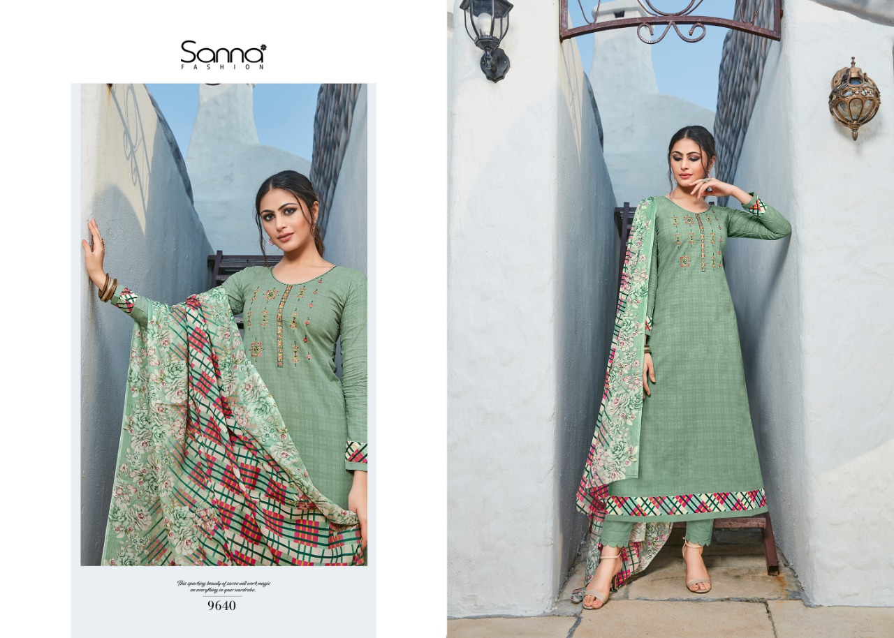 Sanna Muse Designer Work With Cotton Jam Silk Digital Printed Suits In Best Wholesale Rate